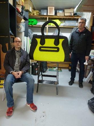 Beagles & Ramsay in studio with Handbag